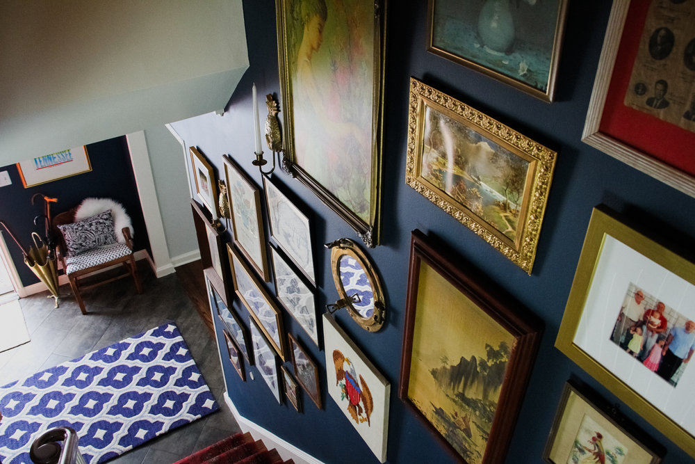 Vintage Gallery Wall Stairwell – M Pettipoole