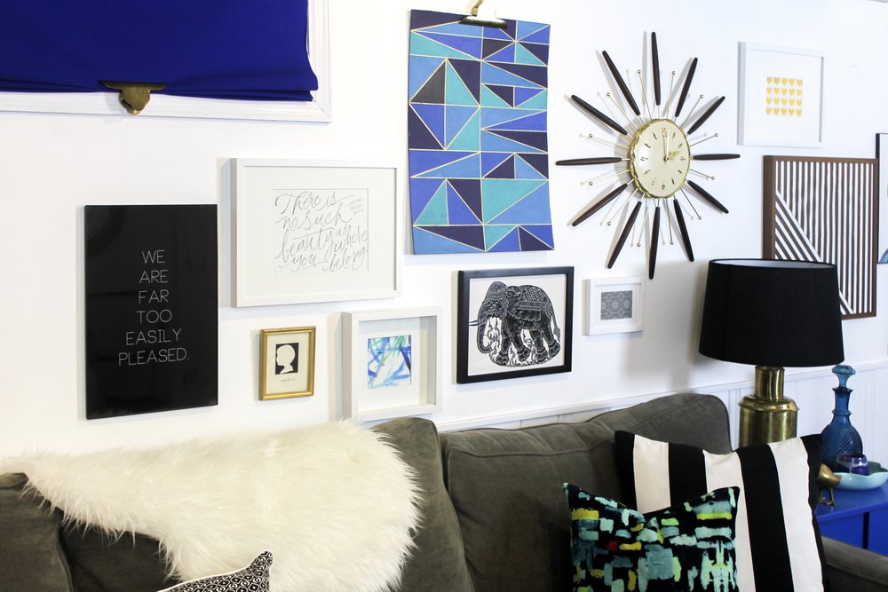 Blue and Black Gallery Wall – M Pettipoole