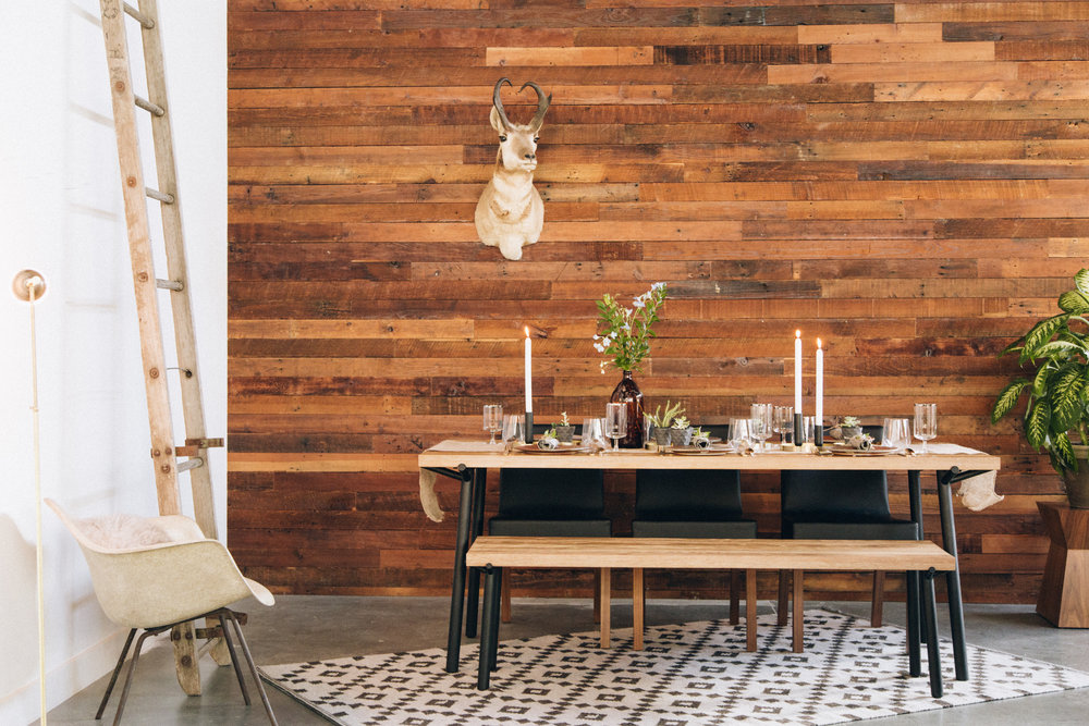 Hutch Rustic Modern Thanksgiving Table Setting