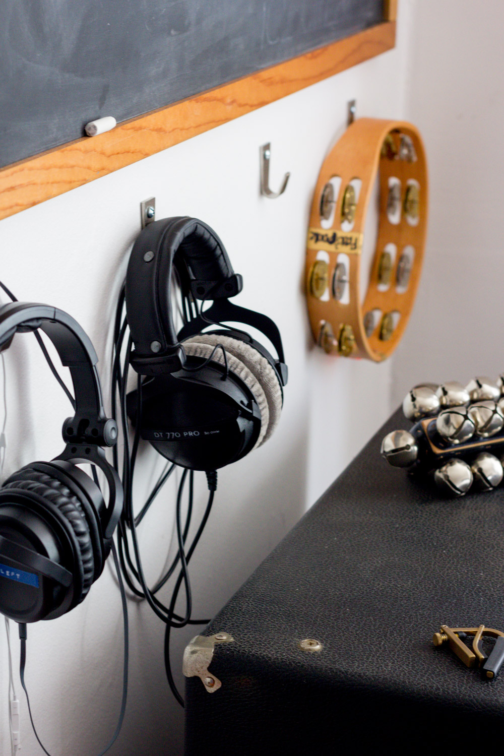 In-home music studio headphones