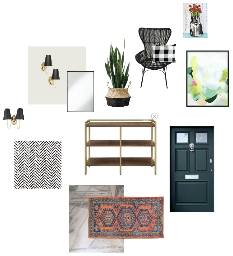 Modern Colonial Entryway Mood Board