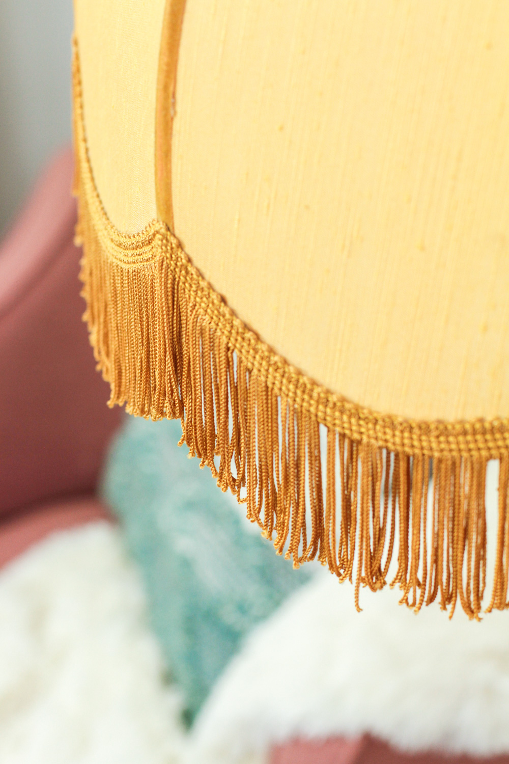 Antique Fringed Lampshade
