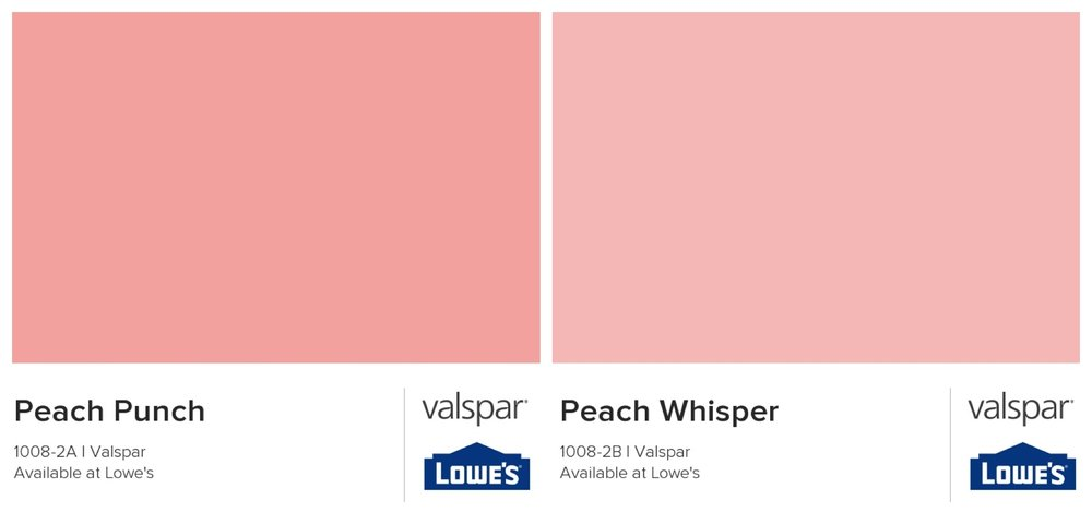 Valspar peach paint options