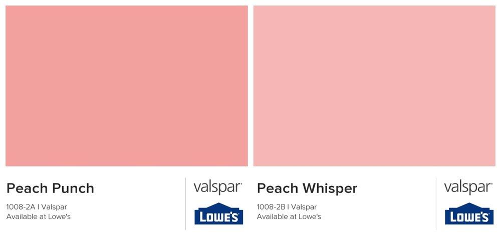 Valspar peach paint options
