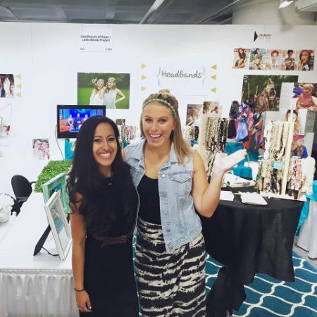 Founder and owner of Headbands of Hope, Jess Ekstrom, on right.