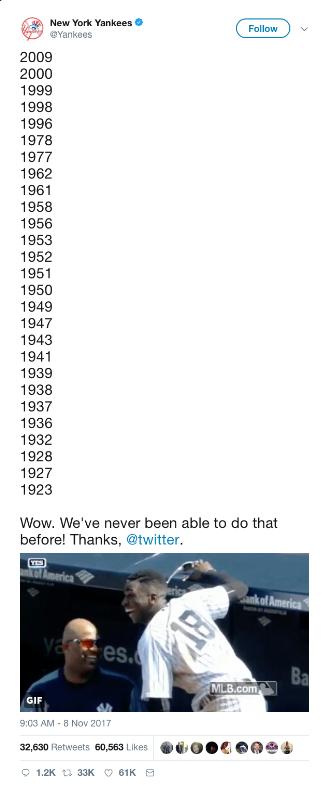 yankees 280 tweet
