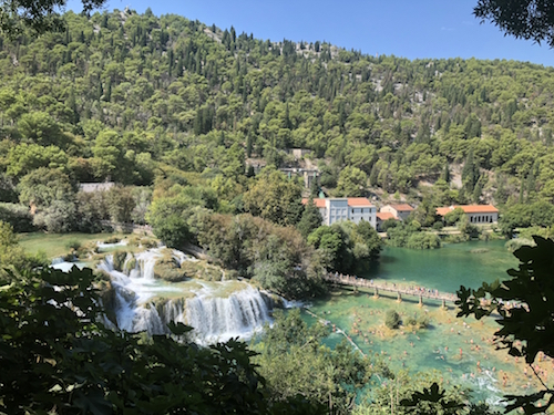Krka National Park– full of waterfalls, gorgeous lakes and large crowds of tourists.
