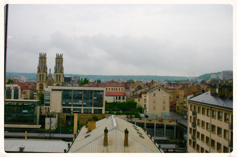 View of Nancy from the hotel room.  Park hotel, Nancy, France. Image©gunjanvirk