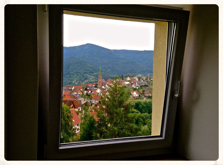 View of the village from the room window taken from iPhone 5. Black Forest, Germany. Image©gunjanvirk