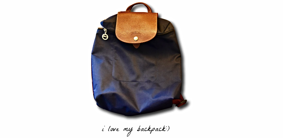 My Longchamp Navy Backpack. Image©gunjanvirk