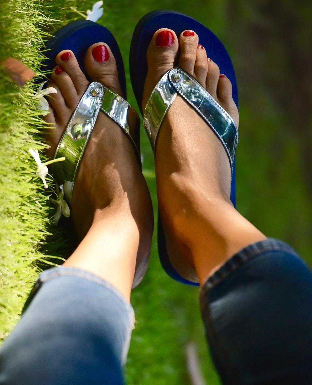 These fancy flip-flops are fun to wear! Image©gunjanvirk