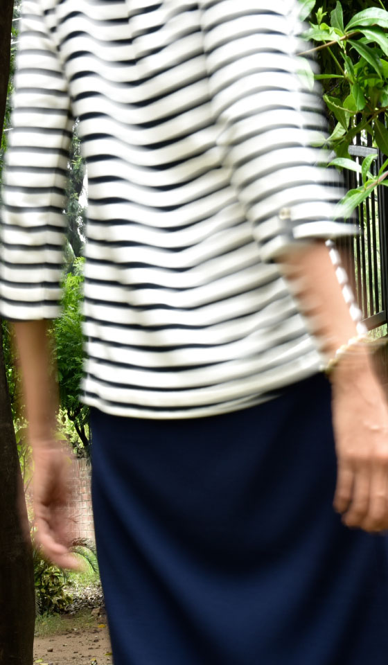 My super Zara striped navy dress, image©gunjanvirk