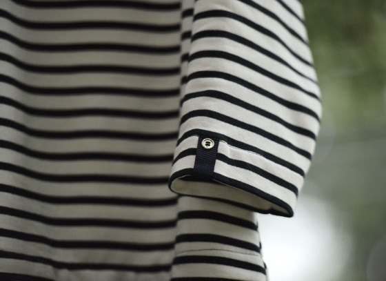 Sleeve detail of my Zara striped navy dress, image©gunjanvirk