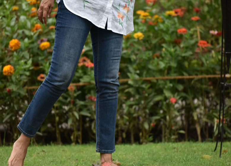 My Jjill authentic fit slim ankle jeans. Image©gunjanvirk