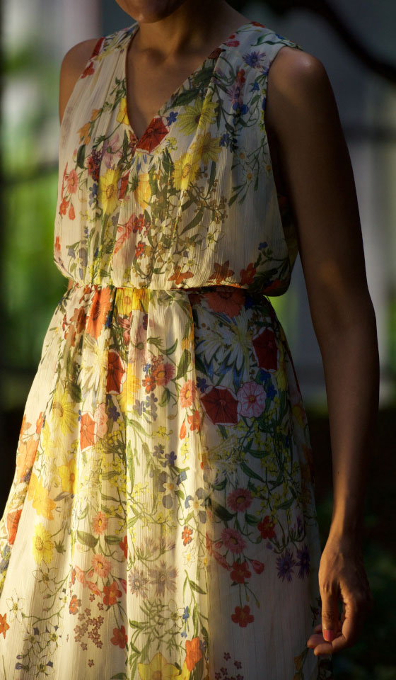 My Zara chiffon dress with a high-waistline, image©gunjanvirk