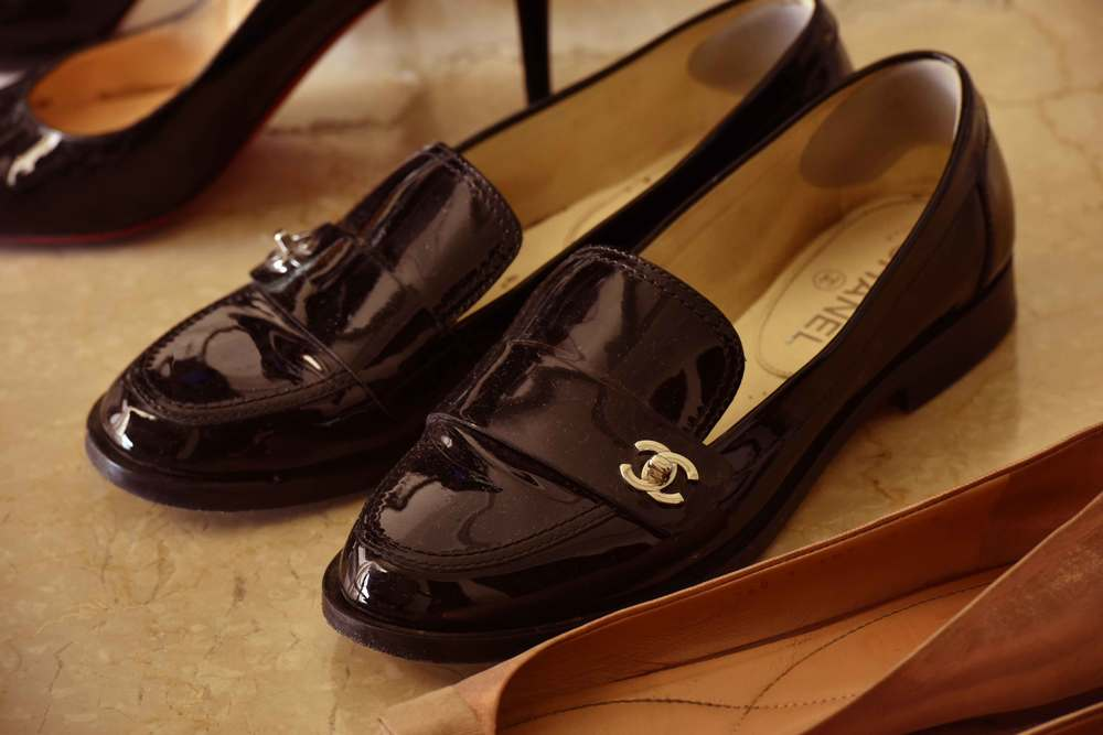 Ferragamo ballet flats, Chanel loafers and Loubitons. Image©gunjanvirk