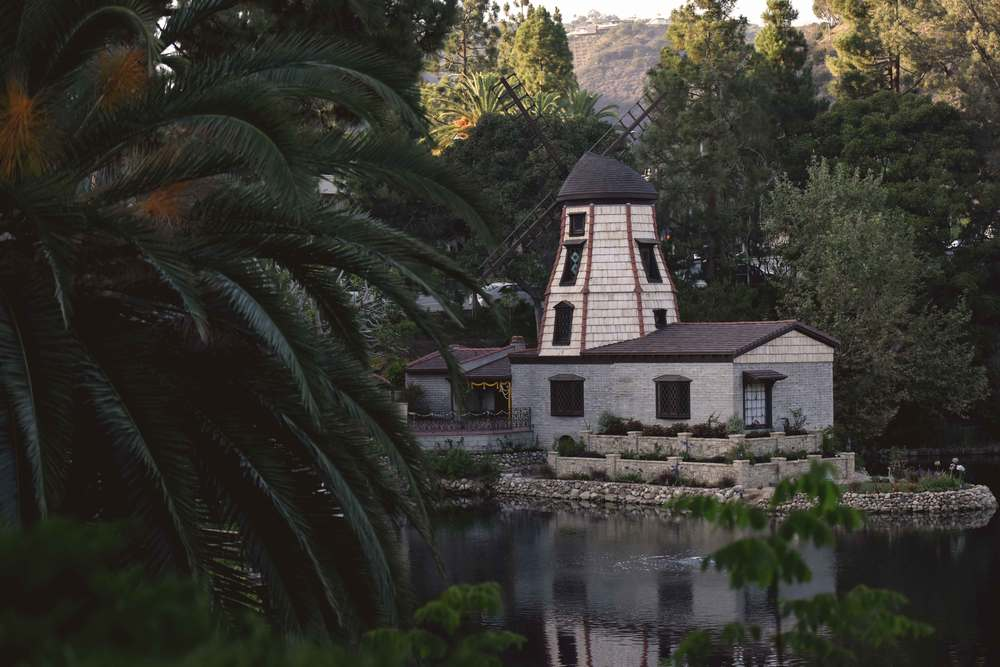 Windmill Chapel at SRF Lake Shrine, Pacific Palisades, CA. Image©gunjanvirk