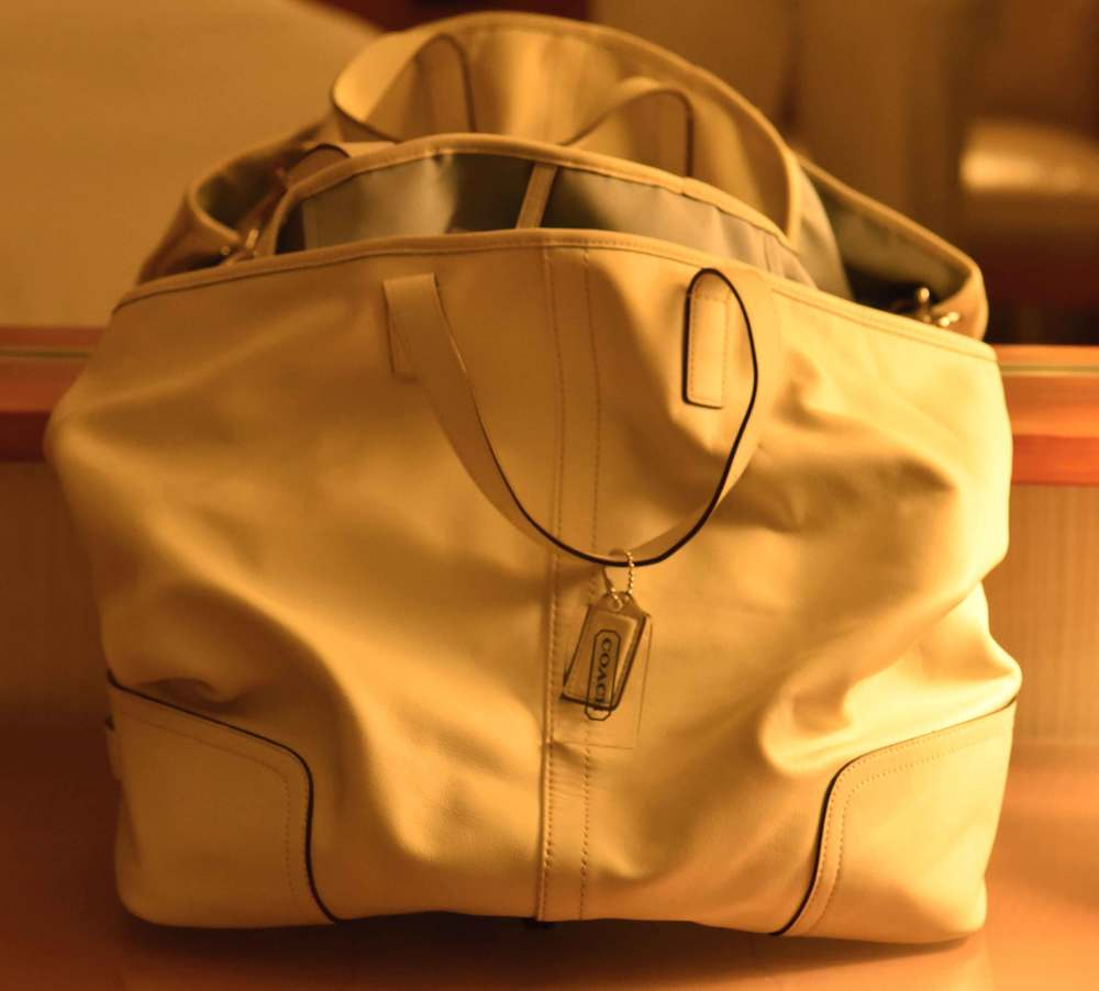 My Coach leather bag. Image©gunjanvirk