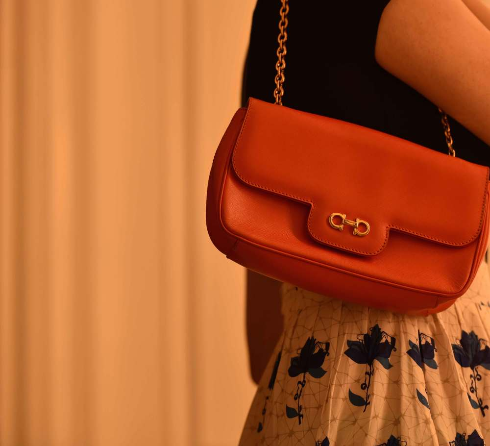 Getting romantic with a Ferragamo bag. Image©gunjanvirk