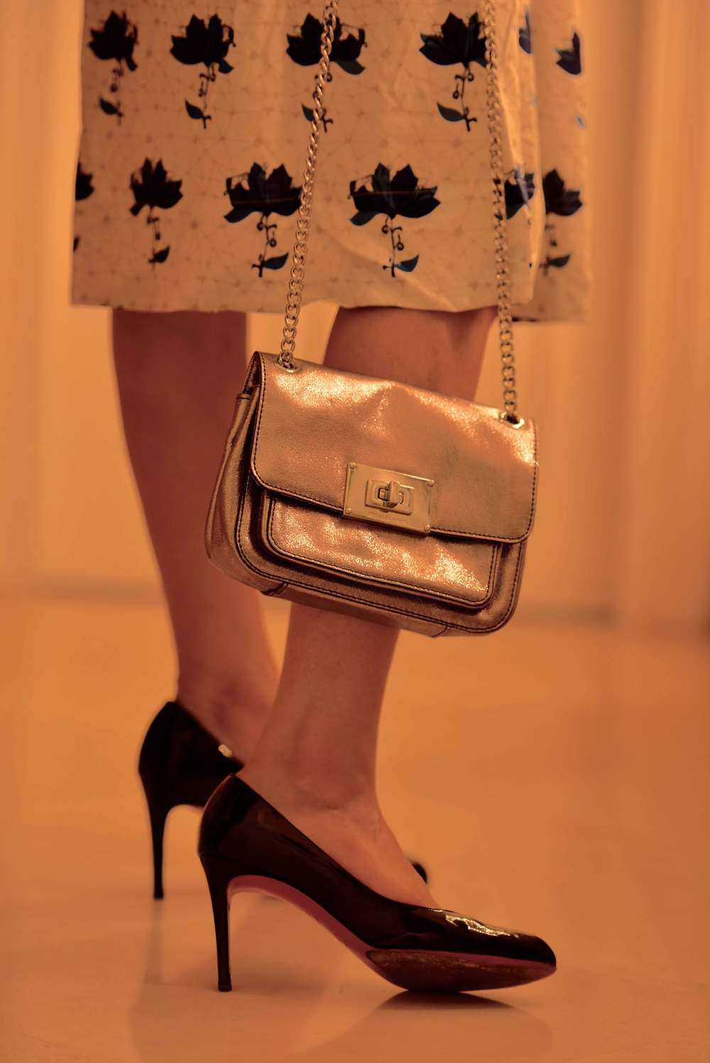 Ready for the red carpet! Bag: Michael Kors, Shoes: Loubitons. Image©gunjanvirk