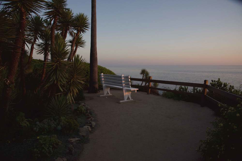 When night falls at the SRF meditation gardens, Encinitas, CA. Image©gunjanvirk