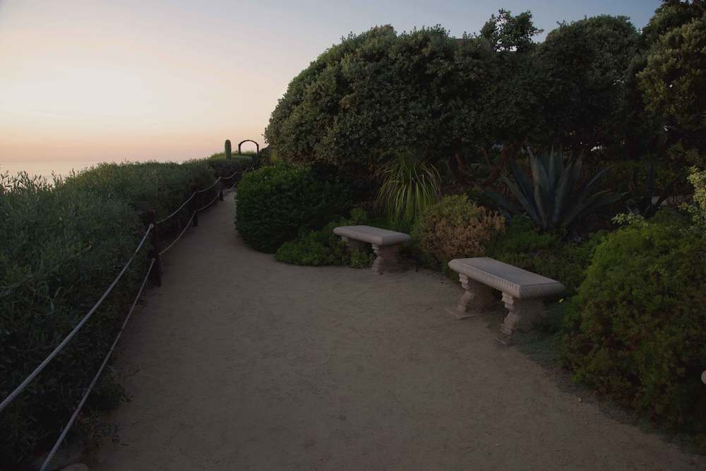 The quiet SRF gardens for meditating at Encinitas, CA. Image©gunjanvirk