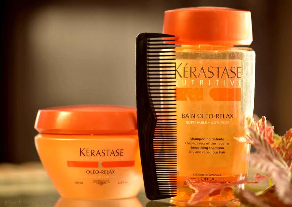 Kerastaste Oleo Relax conditioner and Kerastase Nutritive Bain Oleo Relax shampoo. Image©gunjanvirk