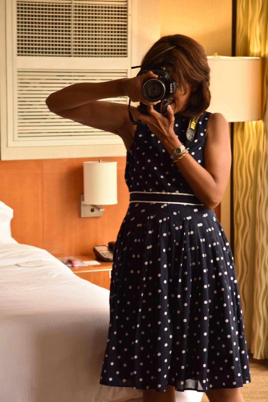 My perfect Talbots fit and flare polka-dot dress!Image©gunjanvirk