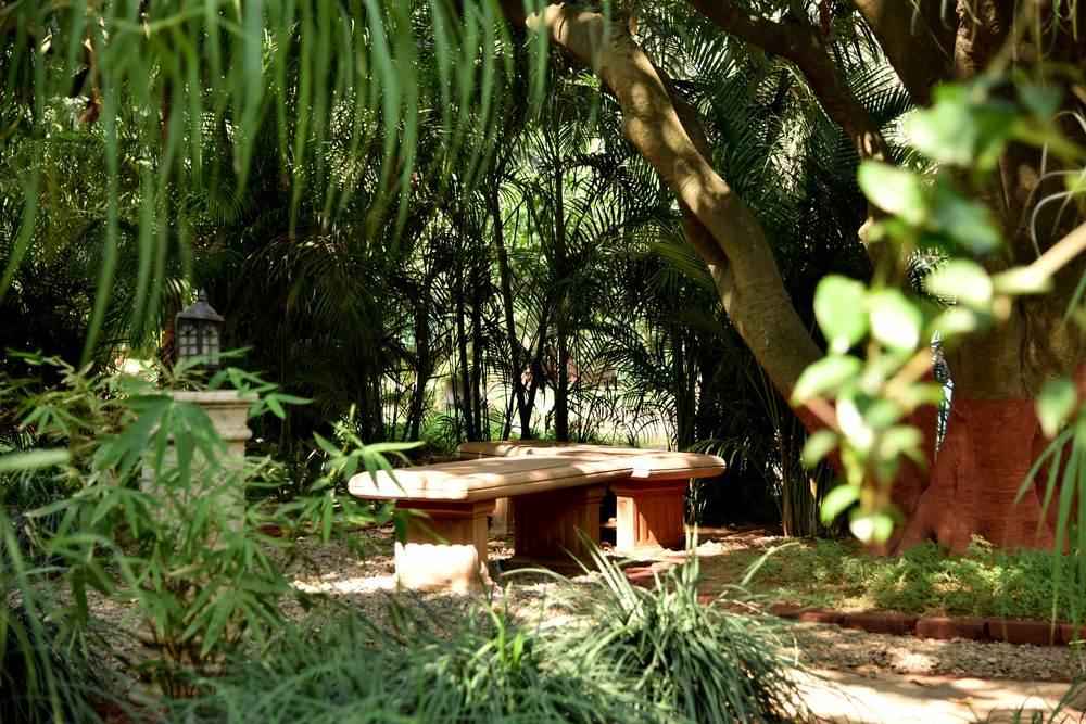 Meditation gardens, YSS ashram, Ranchi. Image©sourcingstyle.com.