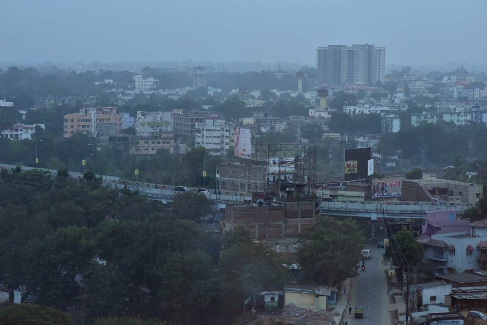 Ranchi skyline-view from the hotel, Radisson Hotel, Ranchi. Image©sourcingstyle.com