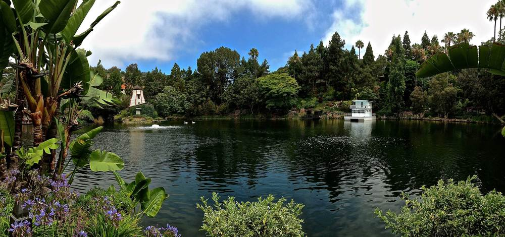 The SRF Lake Shrine gardens, Pacific Palisades, CA. Image©gunjanvirk.