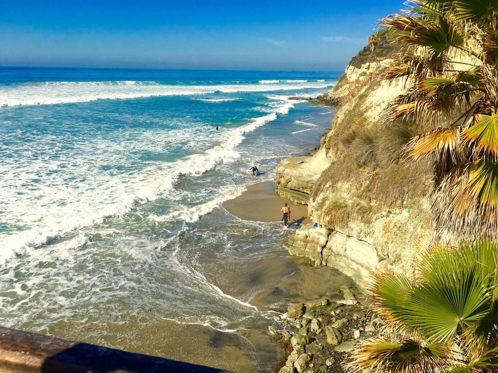 My favorite Swamis Beach in Encinitas washed up by the ocean! Image©gunjanvirk, camera iPhone 6s Plus