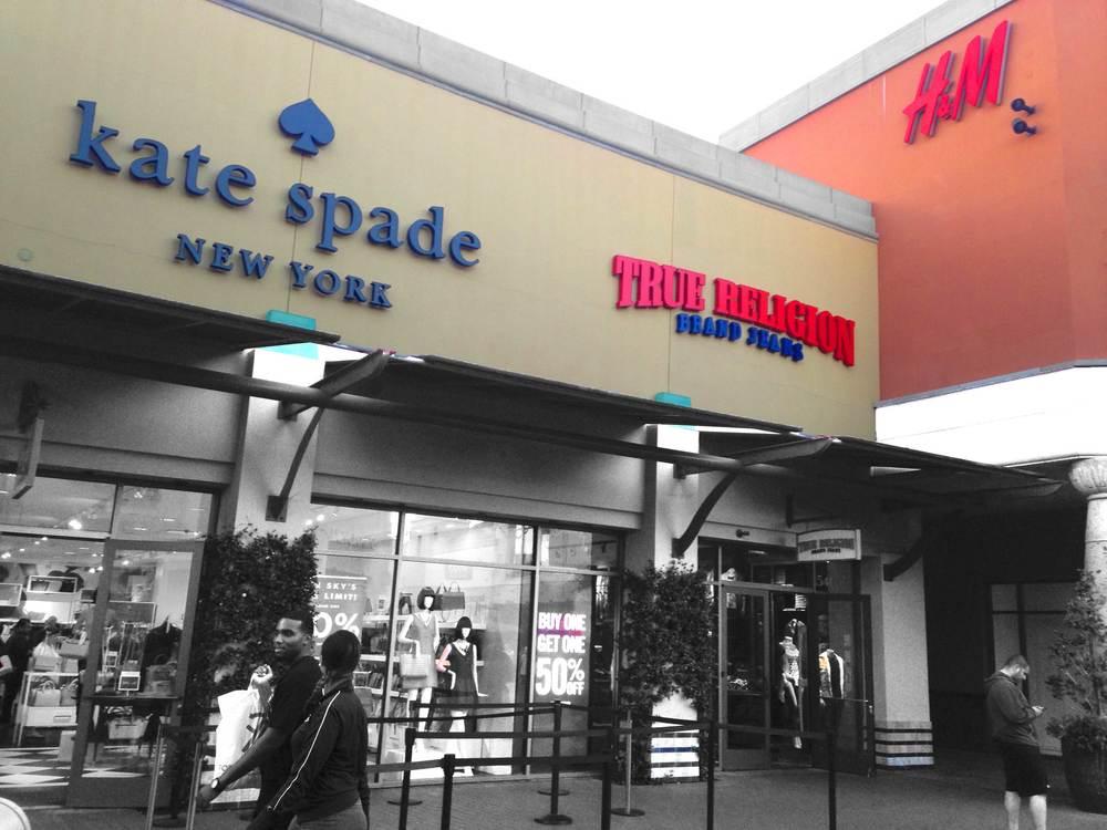 Kate Spade, True Religion and H&M, Citadel Outlets, LA, CA,USA. Image©gunjanvirk