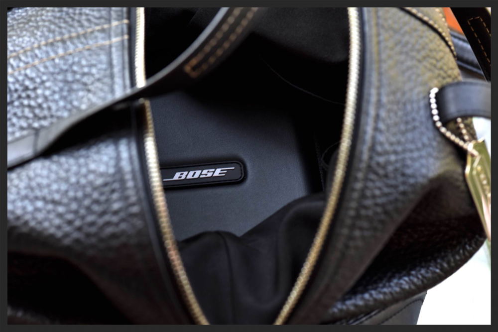 My Bose Noise Cancellations fit beautifully in the bag--I don't have to worry about them getting lost anymore! Image©sourcingstyle.com