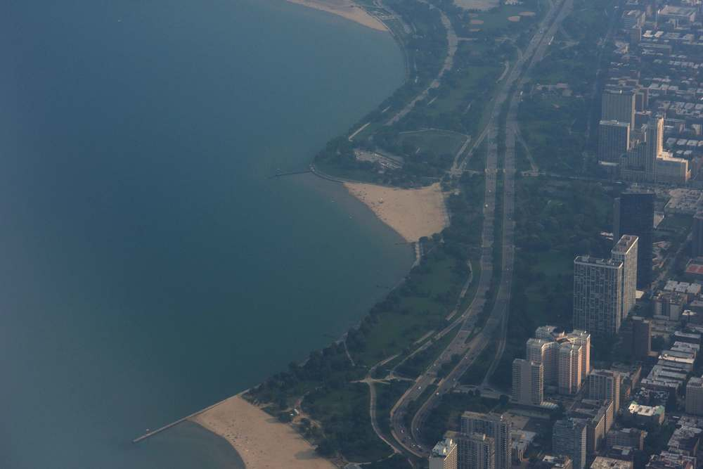 Chicago skyline from the plane, image©gunjanvirk