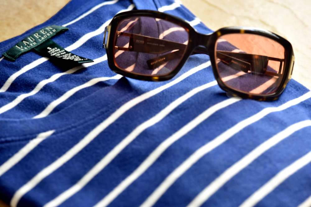 My Ralph Lauren full sleeves striped tee and my Hugo Boss sunglasses. Image©gunjanvirk