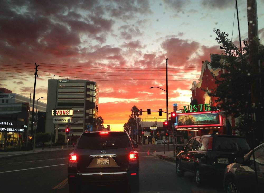 I love driving in Los Angeles when the sun sets! Image©gunjanvirk