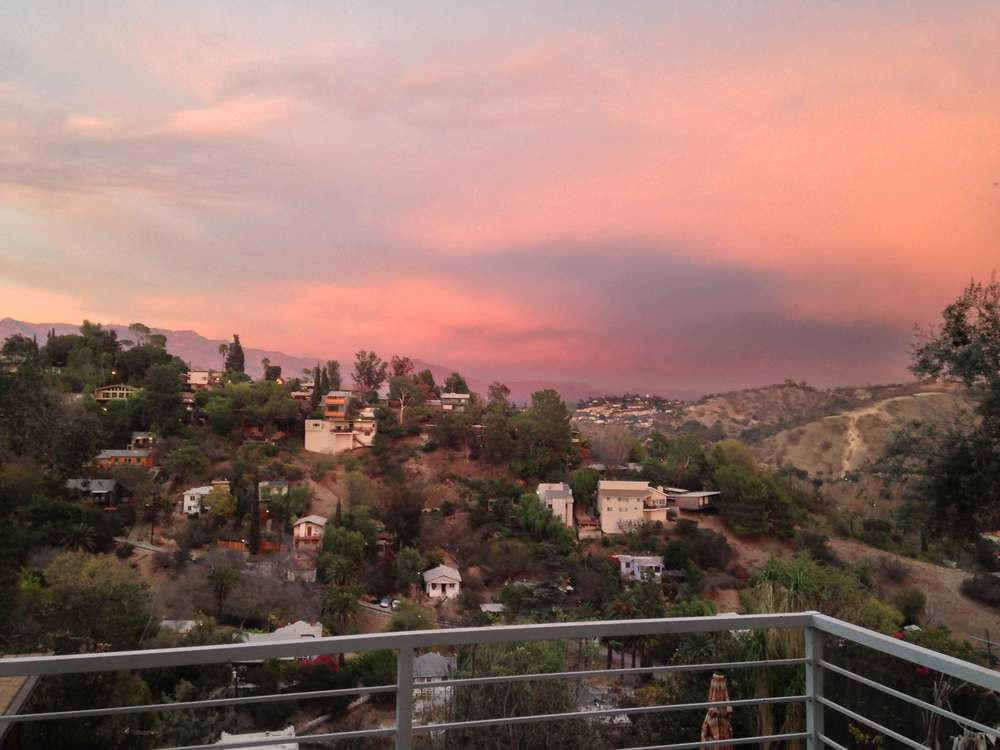 Breathtaking sunset in Los Angeles, view from a friend's home in L.A. Image©gunjanvirk