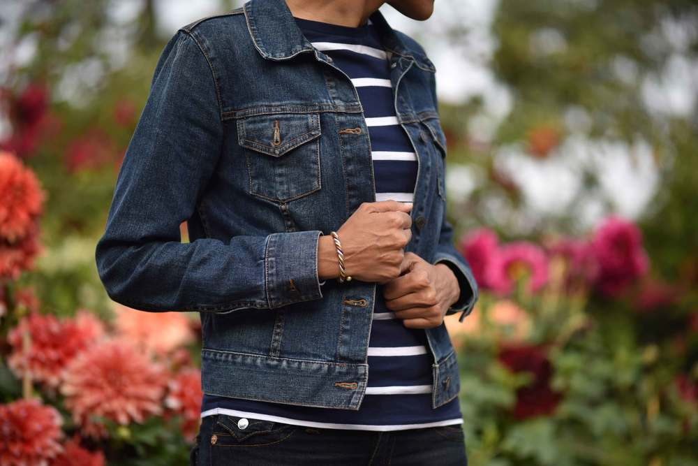 This Talbots denim jacket is so fun! Dresses up even your pajamas! I love it! Image©gunjanvirk