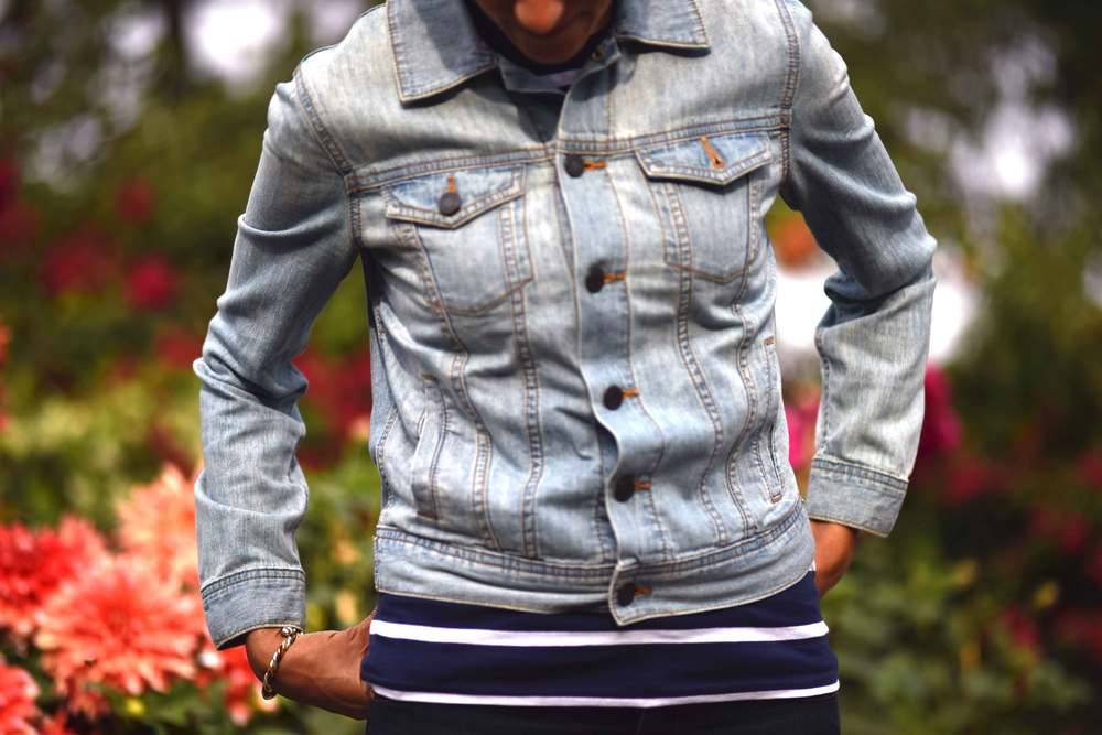 A lightweight Talbots denim jacket is a great addition to the wardrobe! Image©gunjanvirk