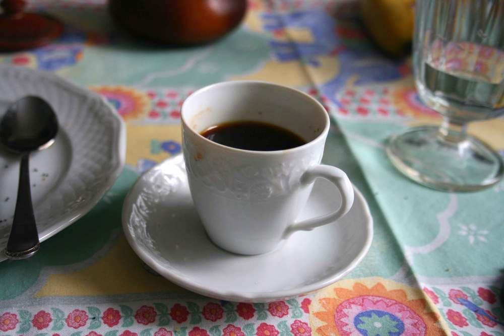 An Italian Espresso shot in fine chinawear. Image©gunjanvirk