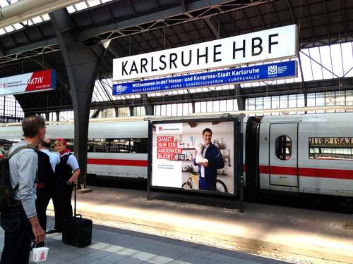 Karlsruhe train station, image©gunjanvirk