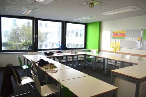 My classroom at the Goethe Institute in Munich, Germany. Image©gunjanvirk