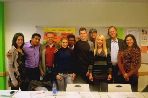 My class with professor Herr Kuhne, Goethe Institute, Munich, Germany. Image©gunjanvirk
