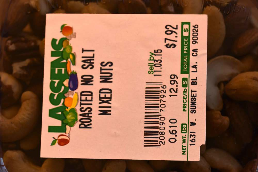 Roasted mixed nuts from Lassens. Image©gunjanvirk