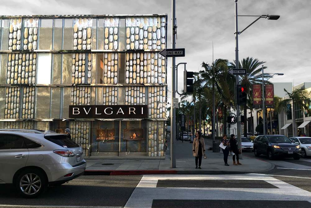 The gorgeous Bvlgari store. Rodeo Drive, Beverly Hills, L.A. Image©gunjanvirk