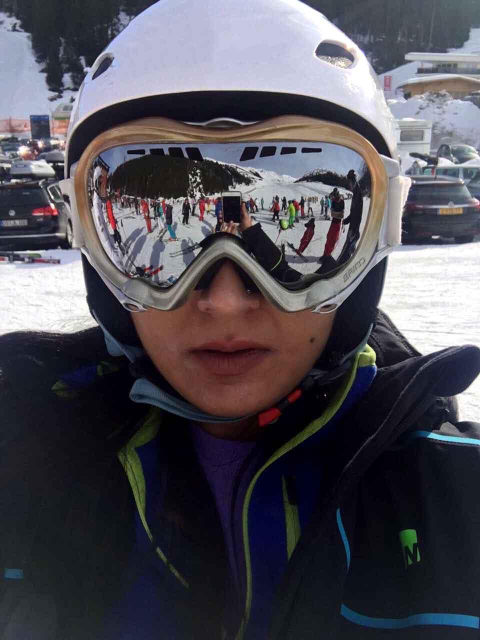 Ruchi in her ski gear, Zillertal, Austria. Image©gunjanvirk