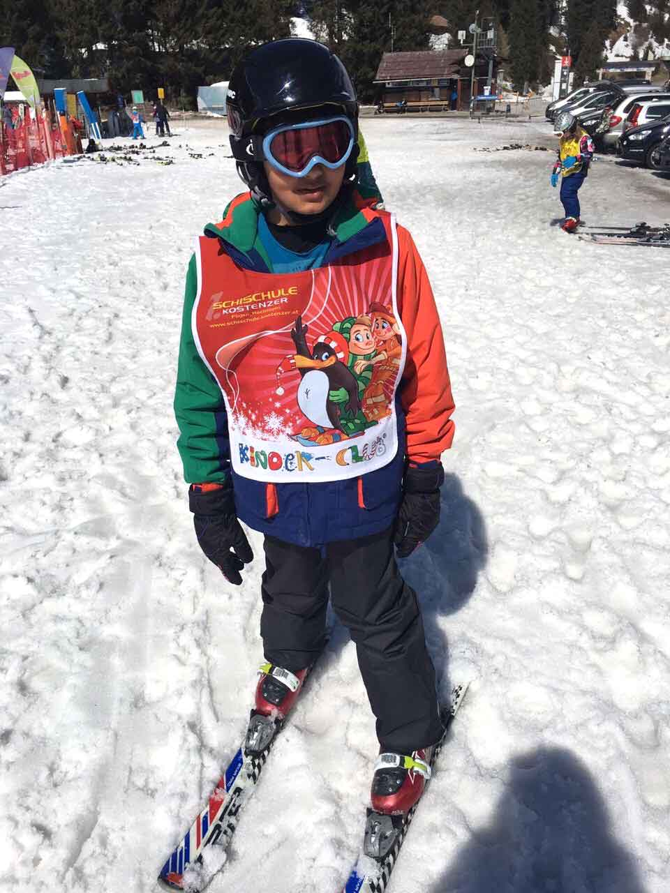 Skiing fun, my cousin's younger son Neel. Image©gunjanvirk
