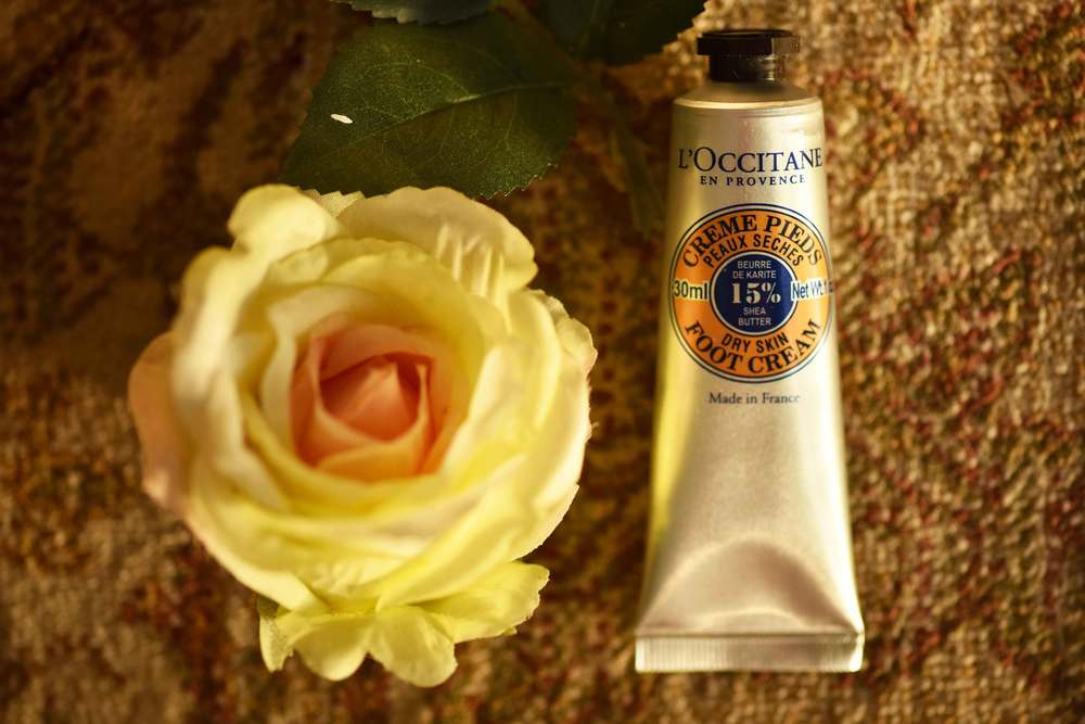 L'Occitane foot cream for dry skin. Image©sourcingstyle.com