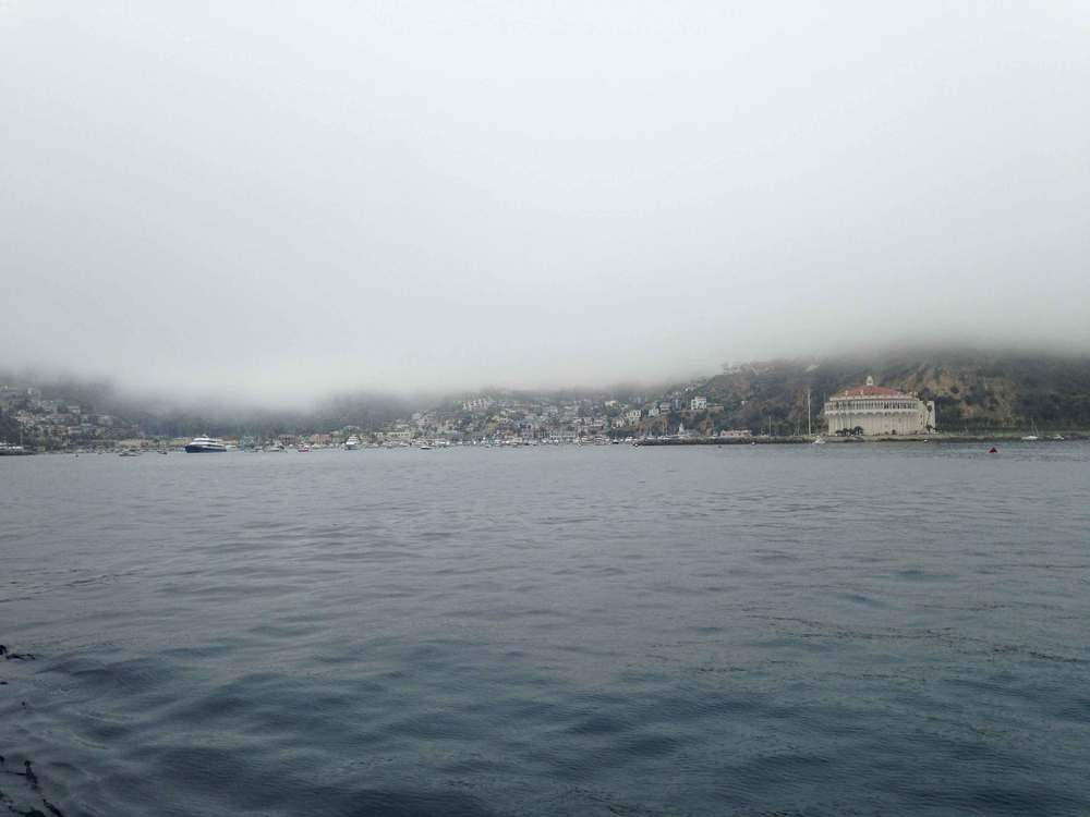 Approaching Catalina Island by ferry, catalinaexpress, foggy day. Image©sourcingstyle.com